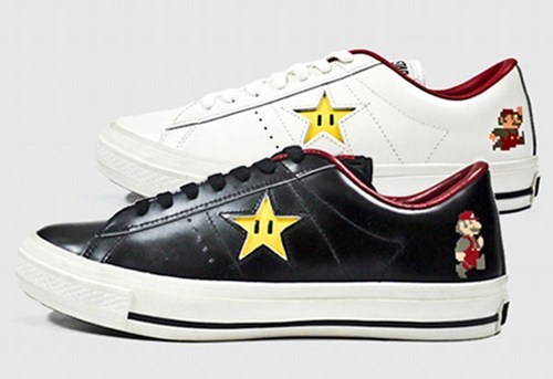 converse,merch,one star,shoes,Super Mario bros,video games
