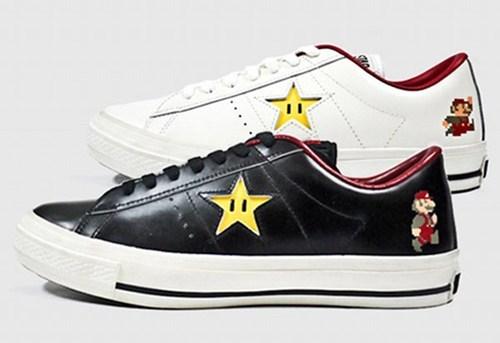converse merch one star shoes Super Mario bros video games - 5806211584