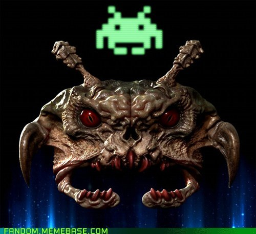 Fan Art,scary,space invaders,video games