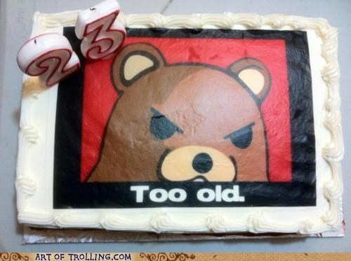 best of week birthday cake IRL pedobear too old