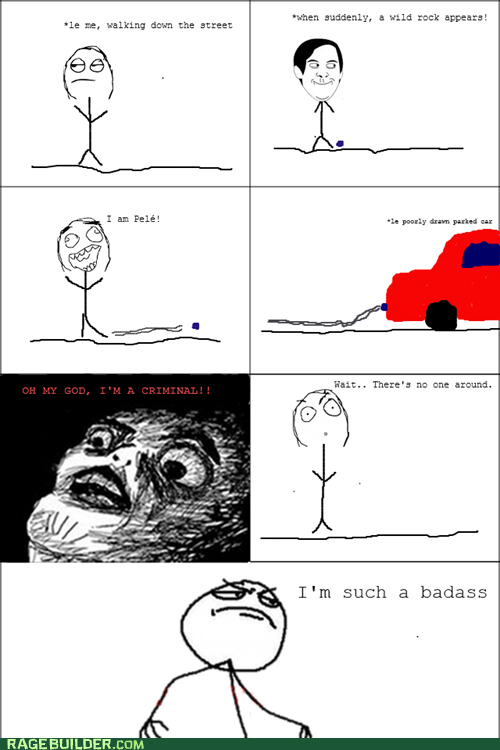 criminal kick Rage Comics raisin face
