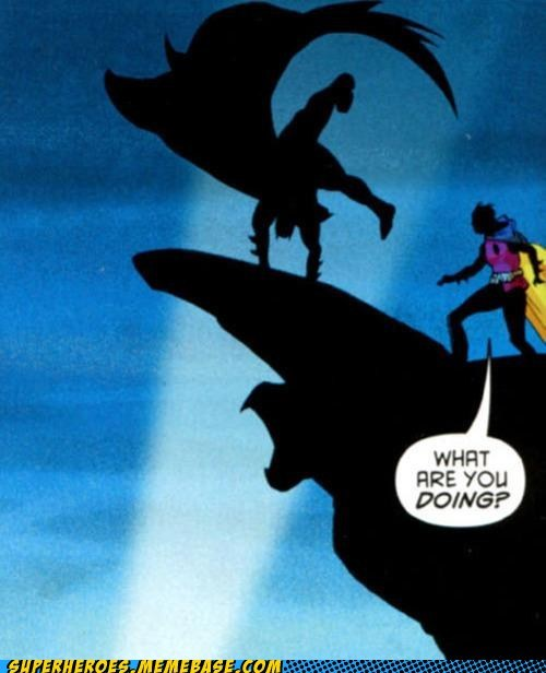 bad idea batman flips robin Straight off the Page wtf - 5806716416