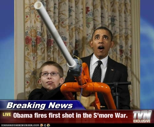 barack obama marshmallow cannon political pictures - 5806749184