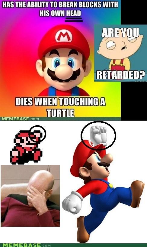 block hand head mario Memes video games - 5807184384
