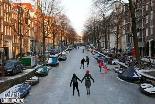 Amsterdam frozen Hall of Fame ice photography river - 5807353344
