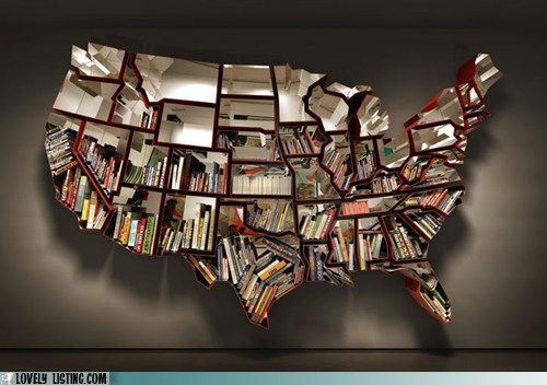 books,map,shelves,usa