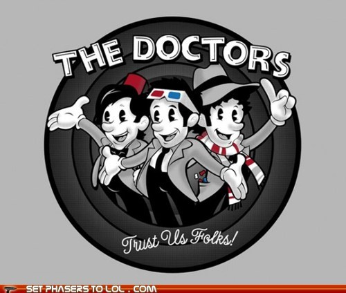 cartoons,David Tennant,doctor who,looney tunes,Matt Smith,thats-all-folks,the doctor,tom baker,trust