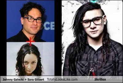 funny Hall of Fame johnny galecki sara gilbert skrillex TLL
