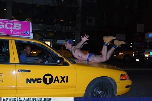 bikini,cab,drunk,drunkard,taxi,woohoo