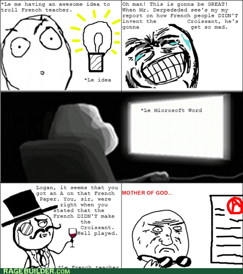 french sir mother of god Rage Comics truancy story - 5807816704