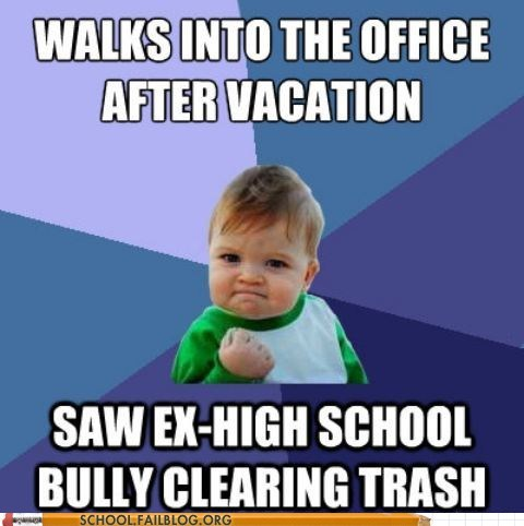 all grown up bully meme success kid