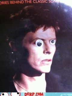 david bowie,derp,googly eyes,ziggy stardust