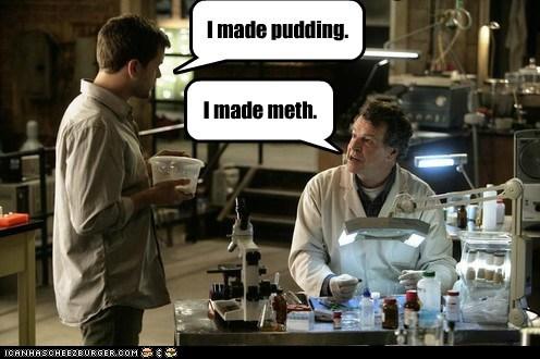 Fringe John Noble joshua jackson meth peter bishop pudding show Walter Bishop wrong - 5808467968