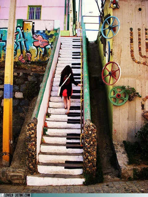 best of the week,decorative,Music,paint,piano keys,stairs