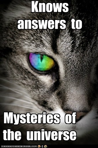 Knows answers to Mysteries of the universe