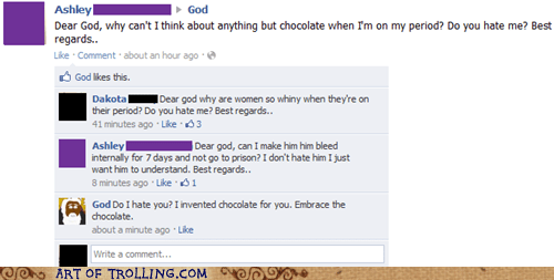chocolate facebook god ladytimes whining - 5808905472
