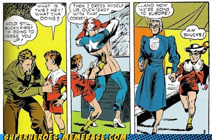 captain america cross dressing Straight off the Page wtf - 5808916992
