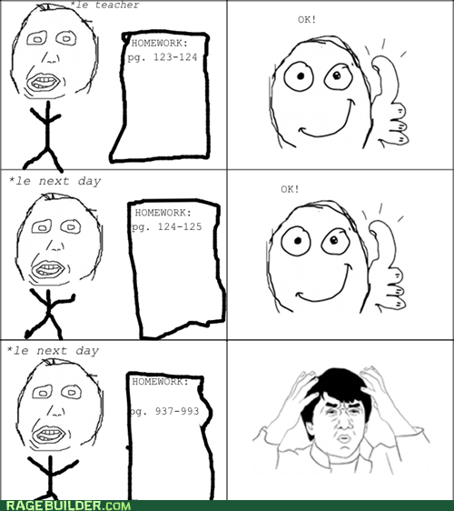 homework Jackie Chan Rage Comics truancy story - 5808960512