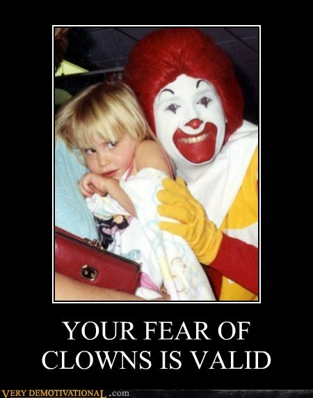 clowns,hilarious,Ronald McDonald,scary,wtf