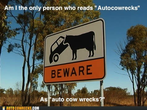 auto cow wrecks AutocoWrecks meta sign - 5809180928