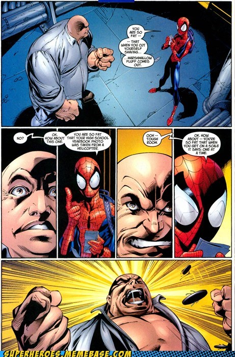 angry fat jokes kingpin Spider-Man Straight off the Page - 5809200896