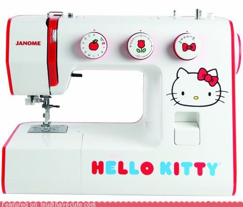 craft,DIY,hello kitty,sew,sewing machine