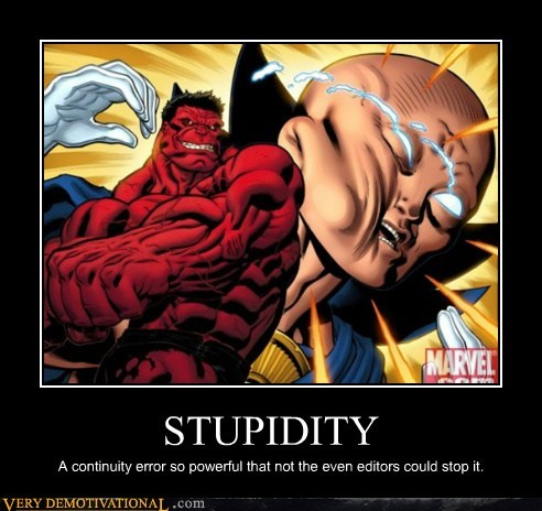 editors hilarious marvel red hulk stupidity wtf - 5809595136