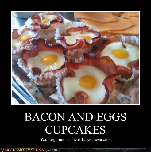 bacon cupcakes eggs Pure Awesome wtf - 5809995008