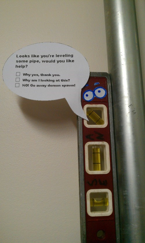clippy the leveler leveling pipe microsoft word IRL need-help - 5810480128