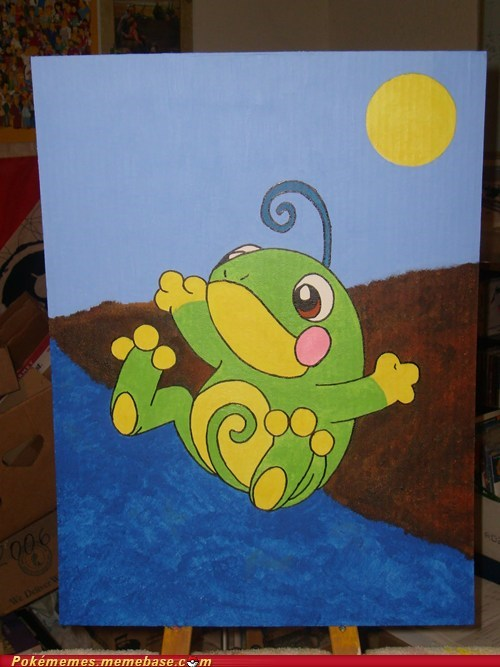 Politoed (Painted for Sick Daughter)