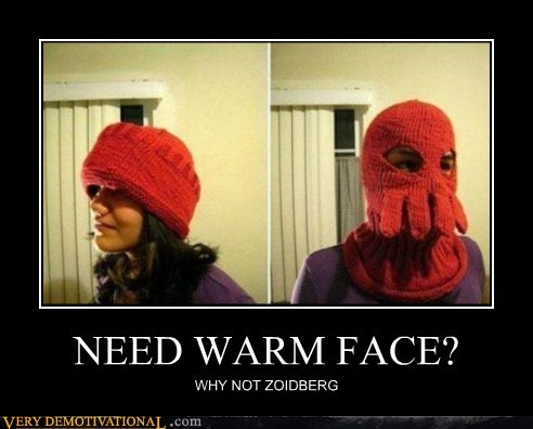 face hat Pure Awesome warm Zoidberg - 5810962176