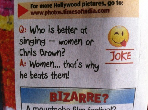 bad joke,chris brown,Times of India
