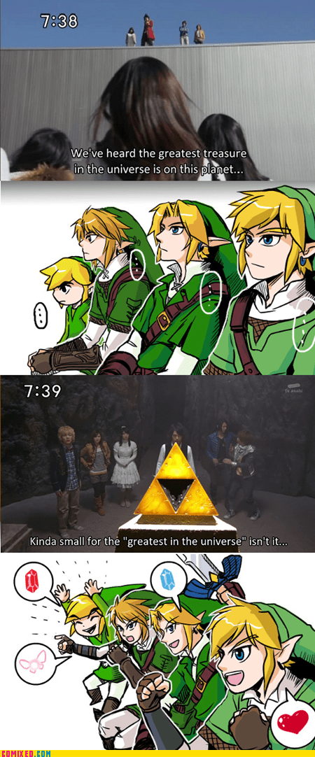 link,reaction guys,triforce,video games,zelda