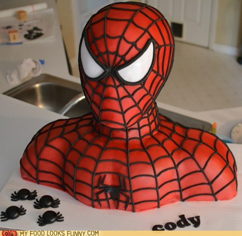 best of the week birthday cake fondant Spider-Man spiders