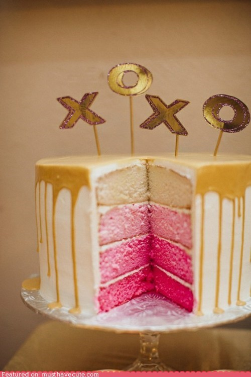 cake,epicute,glaze,pink,Valentines day,xoxo