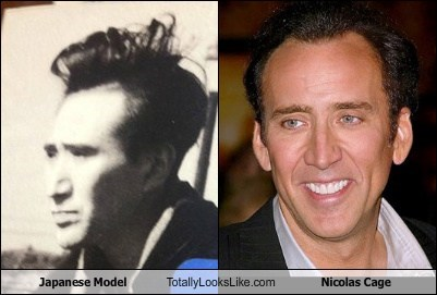 funny japanese model nicolas cage TLL - 5812111104