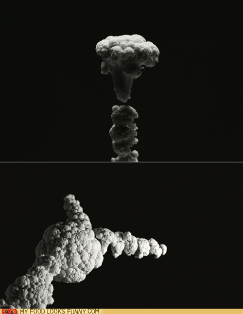 art cauliflower disasters explosions photography