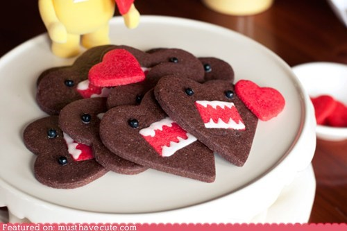 chocolate cookies domo epicute hearts