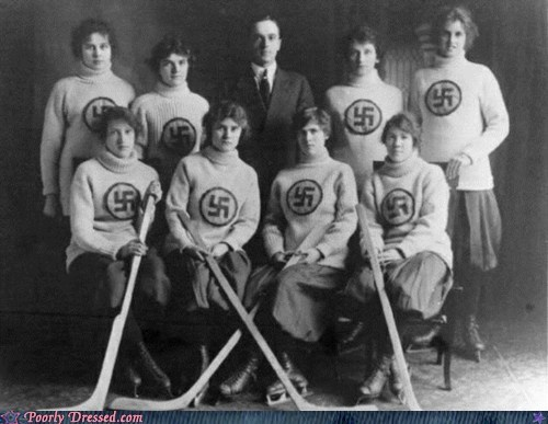 hey ladies hockey sports swastika third reich uniform