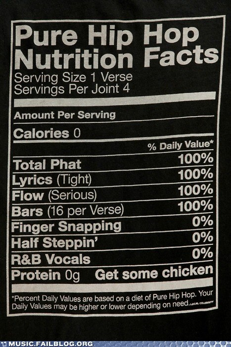 bars flow food hip hop nutrition facts rap - 5812305920