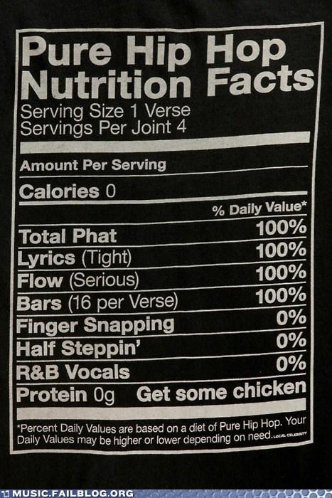 bars flow food hip hop nutrition facts rap - 5812305920