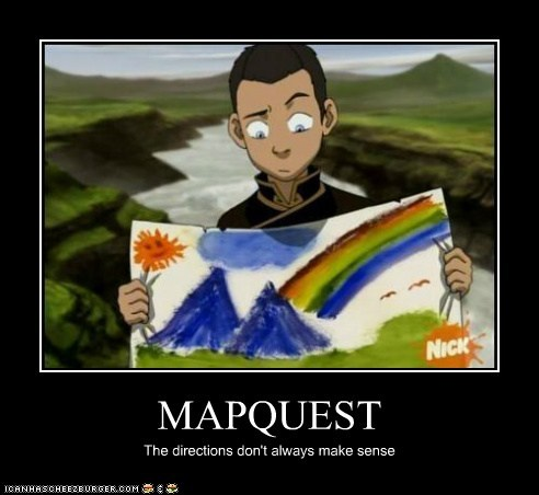 Avatar the Last Airbender directions mapquest painting sokka