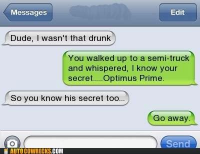 drunk last night optimus prime transformers - 5812460544