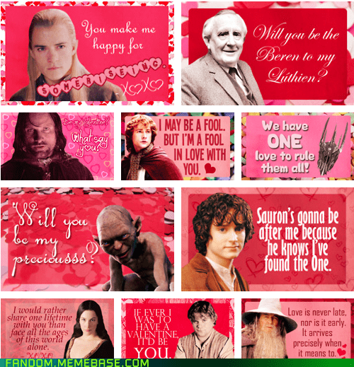 Fan Art Lord of the Rings movies Valentines day - 5812505856