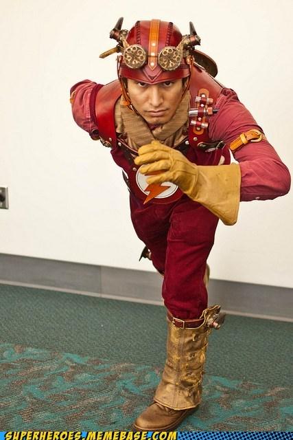 costume flash Steampunk Super Costume - 5812936448