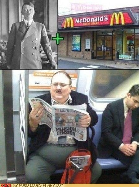 fat hitler McDonald's Subway