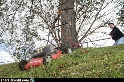 lawnmower rope wtf yardwork - 5813058816