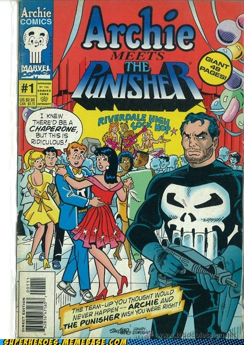 Archie Awesome Art crossover punisher wtf - 5813211648