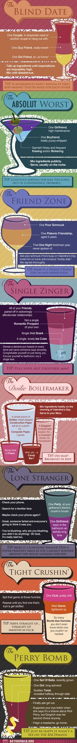 drinking forever alone friend zone infographic Valentines day - 5813245440