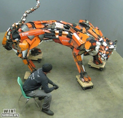 animals art recycle scrap metal sculpture - 5813309184